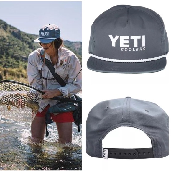 3612e5bc1c292 NWT Yeti Coolers Outdoor Camping SnapBack Hat OS